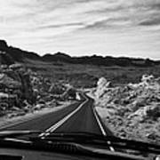 Driving Along The White Domes Road In Valley Of Fire State Park Nevada Usa Art Print