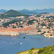 Dubrovnik, Croatia. Overall View Of Old Art Print