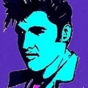 Elvis The King Art Print