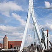 Erasmus Bridge In Rotterdam Art Print