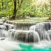 Erawan Waterfall In Kanchanaburi Province Art Print