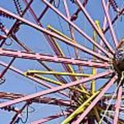 Evergreen State Fair Ferris Wheel Art Print