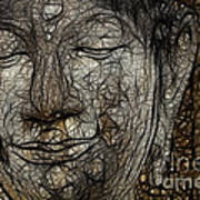 Face Of Buddha Art Print