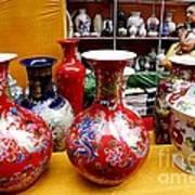 Feira De Porcelano Chinesa Art Print