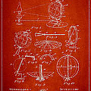 Folding School Globe Patent Drawing From 1887 Art Print