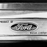 Powered By Ford Emblem -0307bw Art Print