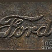 Ford Tough Antique Truck Logo Art Print