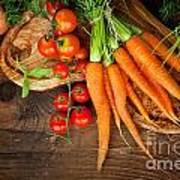 Fresh Vegetables Print by Mythja  Photography