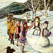 Frosty Frolic Art Print