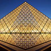 Glass Pyramid Art Print