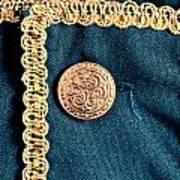Golden Buttons Art Print