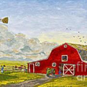 Grandpa's Farm Art Print