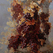 Grapes And Architecture Art Print