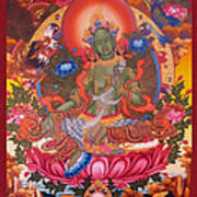 Green Tara 10 Art Print