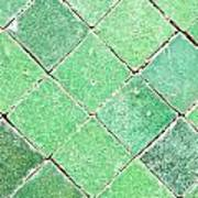 Green Tiles Art Print