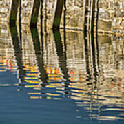 Harbour Reflections Art Print