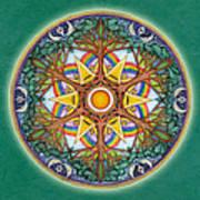 Heaven And Earth Mandala Art Print