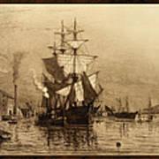 Historic Seaport Schooner Art Print by John Stephens