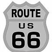 Historical Route 66 Sign Illustration Art Print