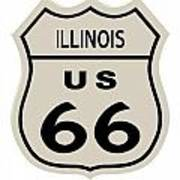 Historical Route 66 Sign Art Print