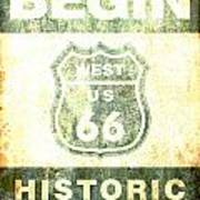 Historical Route 66 Sign Poster Art Print
