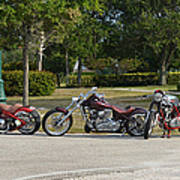 Hogs And Choppers Art Print