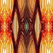 Intrepid Zigzags Art Print