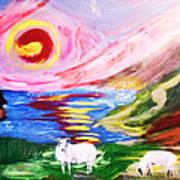 Irish Sunset Art Print by Mounir Mounir
