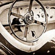 Jaguar Steering Wheel Art Print