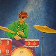 Jazz Drummer Art Print