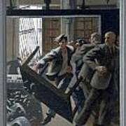 3. Jesus Drives Out The Money Changers / From The Passion Of Christ - A Gay Vision Art Print