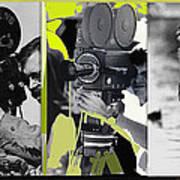3 Kvoa Tv News Cinematographers Frank Sharkey Dave Sonderegger Jackie Sharkey Tucson Az Collage 2011 Art Print