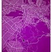La Paz  Street Map - La Paz Bolivia Road Map Art On Colored Back Art Print