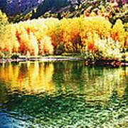 Lake Reflection In Fall Art Print