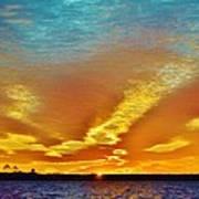 3 Layer Sunset Art Print