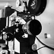 Lenses On Old Film Projector In Cinema Projection Room Biggar Saskatchewan Canada Poster