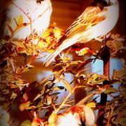 3 Lil Birdies Sittin In The Tree Art Print