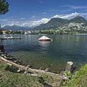 Lugano By Lago Di Lugano Art Print