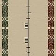 Maccabe Written In Ogham Art Print