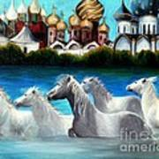 Magical Horses Art Print