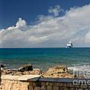 Majesty Of The Seas At Coco Cay Art Print
