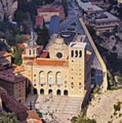 Monastery In Montserrat Art Print