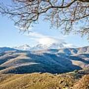 Monte Cinto From Col De San Colombano In Corsica Art Print