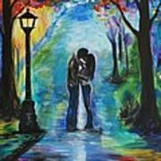 Moonlight Kiss Art Print by Leslie Allen