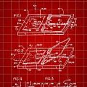 Mouse Trap Patent - Red Art Print