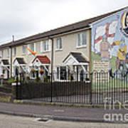 Mural In Shankill, Belfast, Ireland Art Print