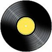 Music Record Art Print