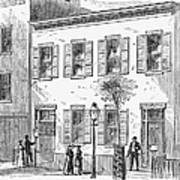 New York: Dispensary, 1868 Art Print