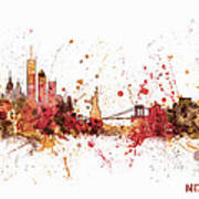 New York Skyline Art Print by Michael Tompsett