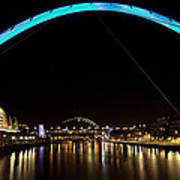 Newcastle Quayside And Sage Gateshead Art Print